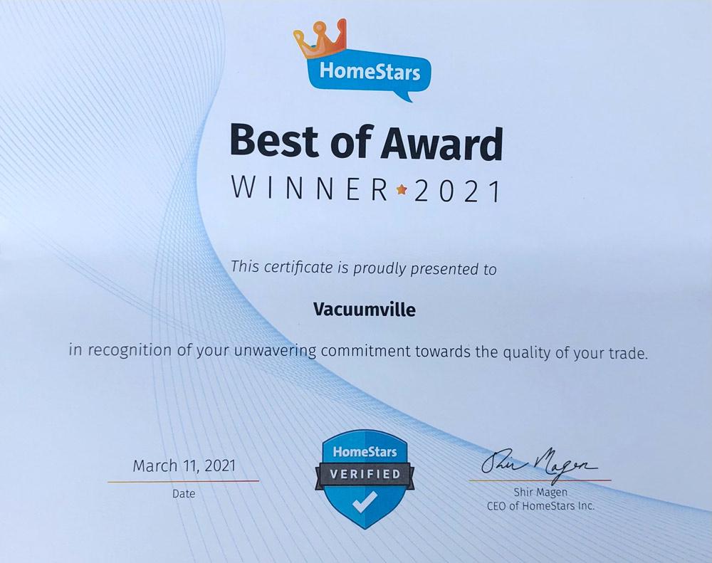 homestar best of award winner 2021