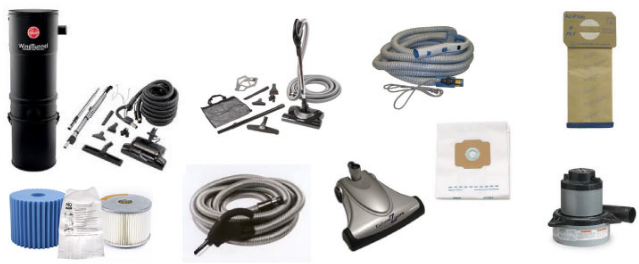 Vacuumville central vacuum parts and accessories