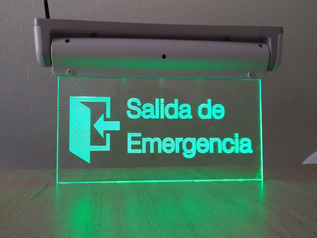 señal con luz led