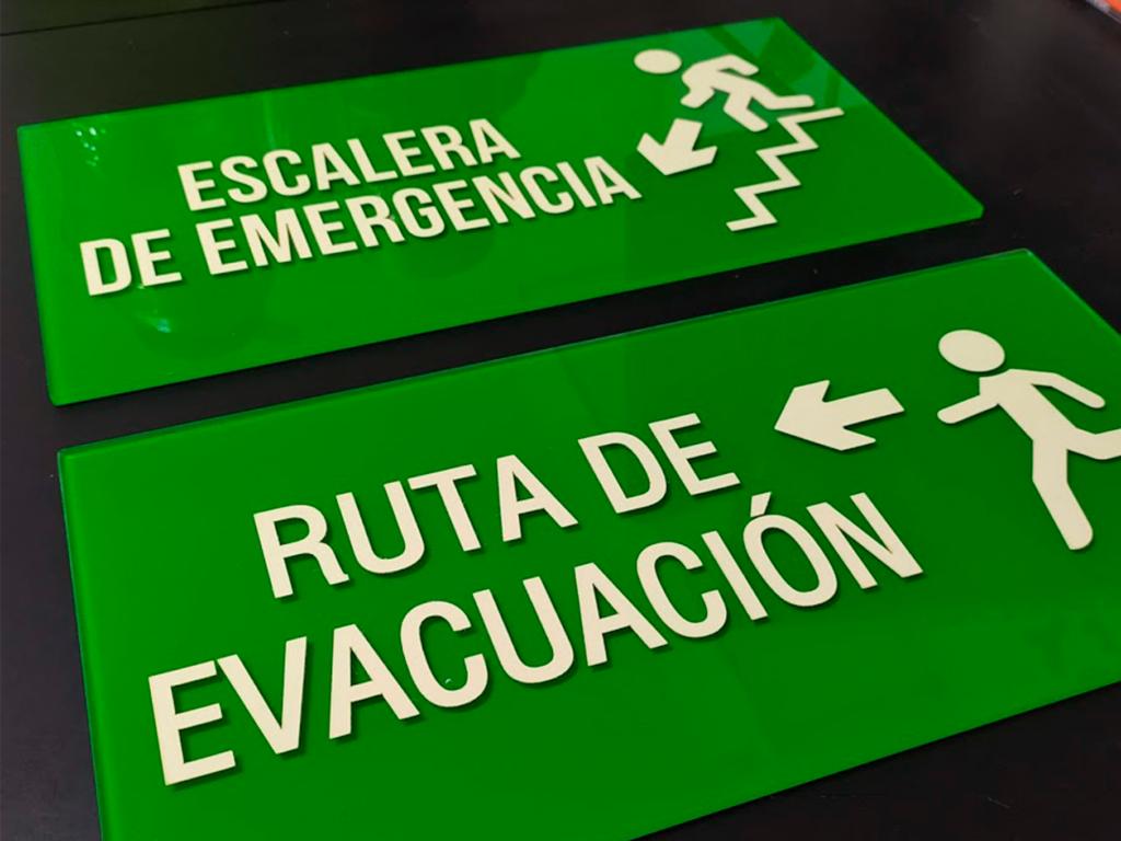 señalización emergencia