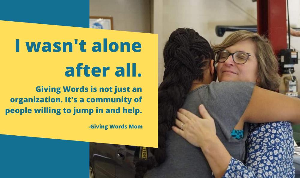 Giving Words Car giveaway hug for web slider redo