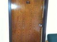 Finished dorm room door