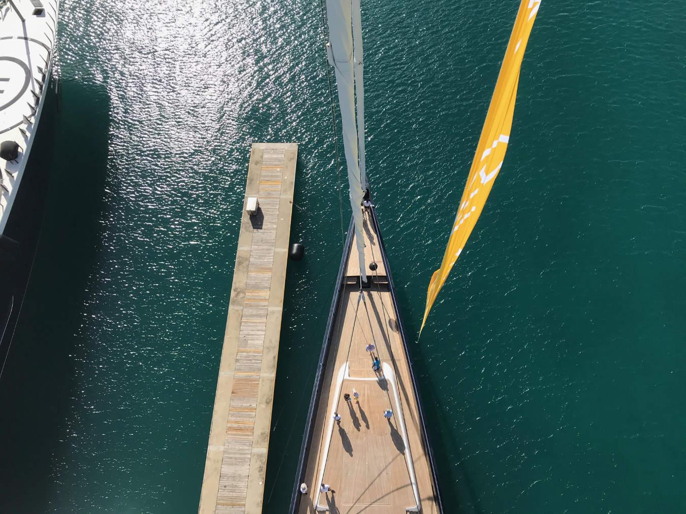 superyacht deck view