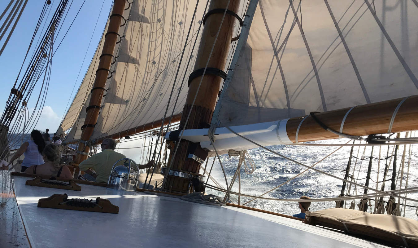 afternoon sail on Columbia