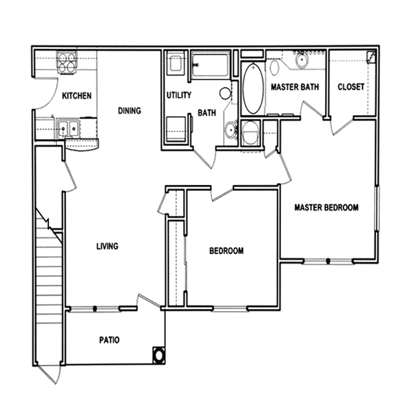 2 bedroom down