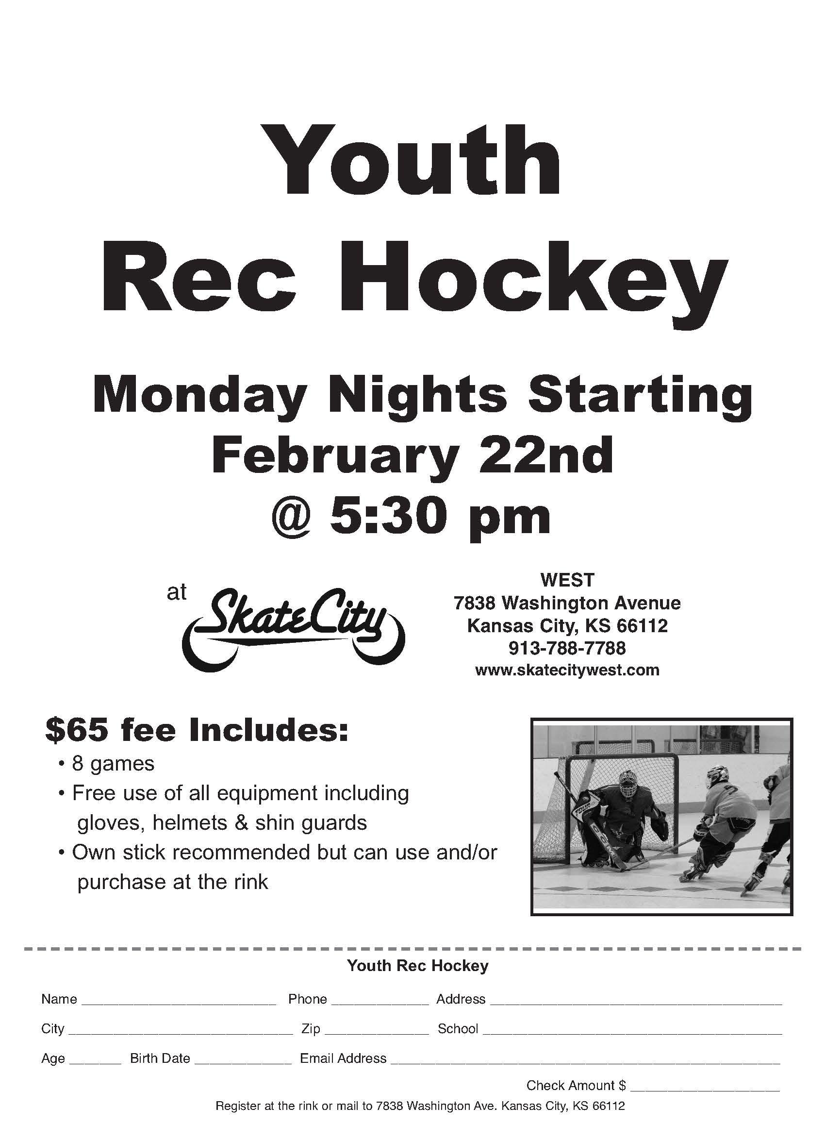 Youth Rec Hockey Feb 2021