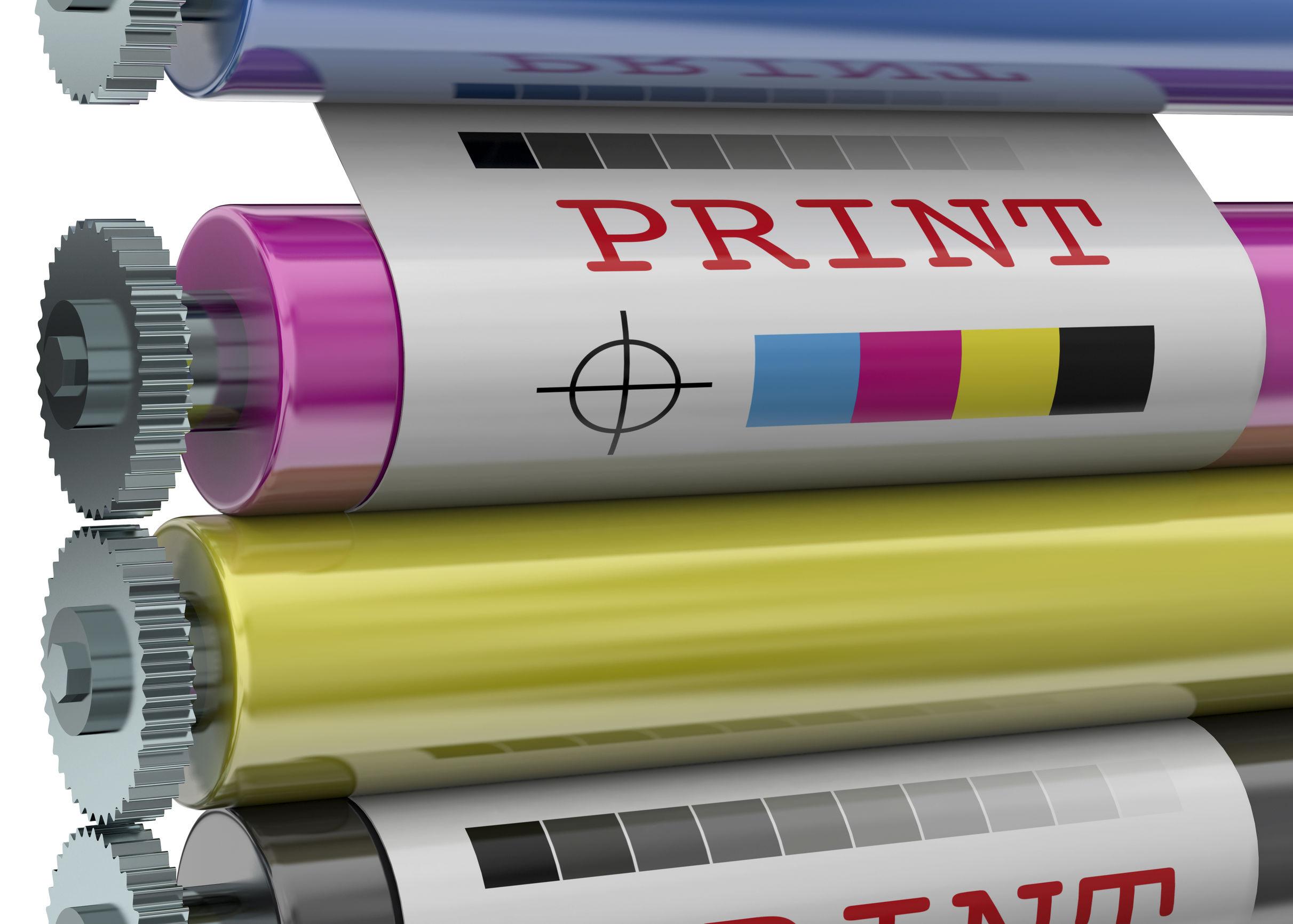 Print Machine on white background