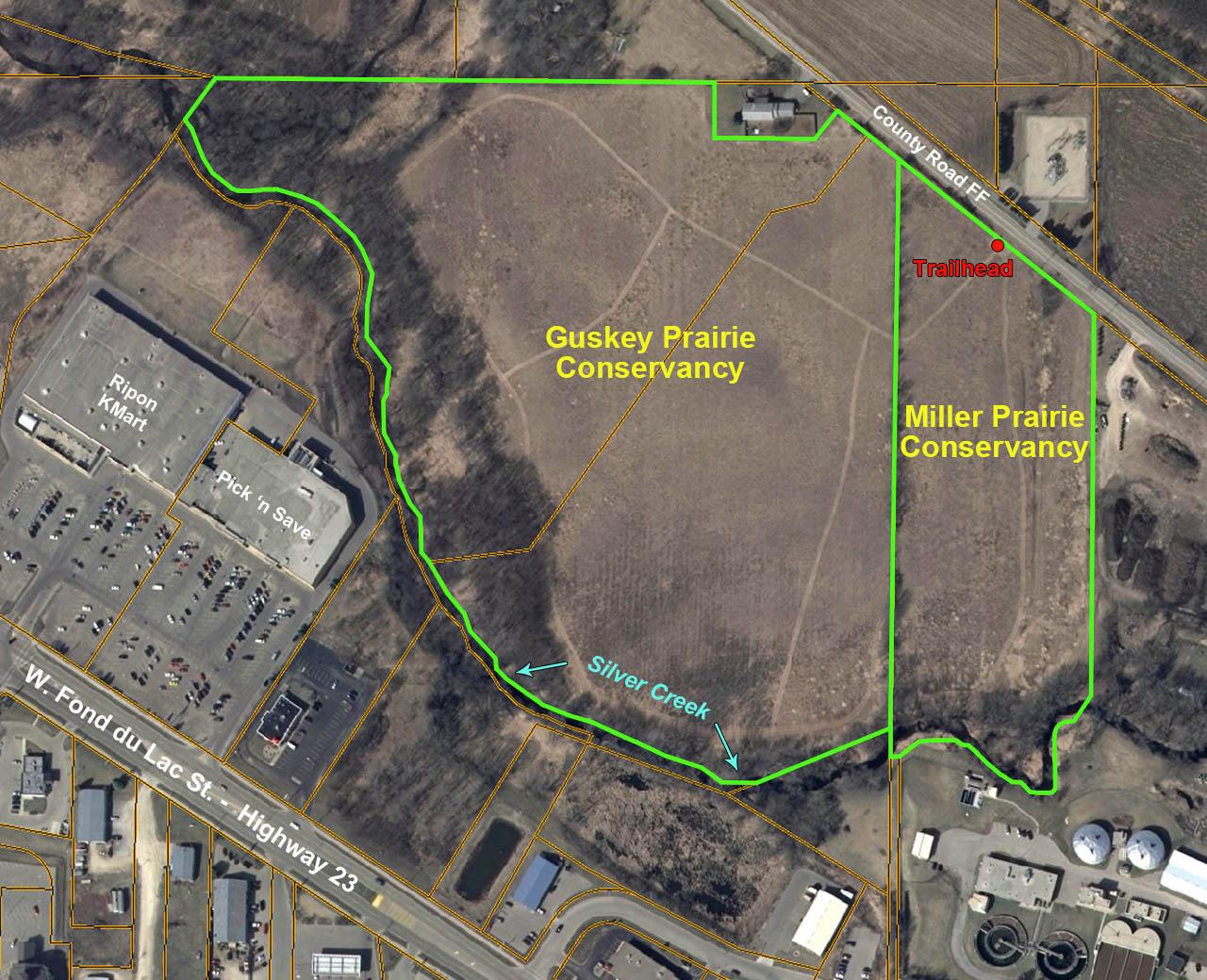 Guskey-Miller Prairies map 2014