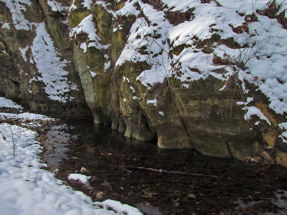Mitchell Glen 1-16-12 rocky cliffs & stream