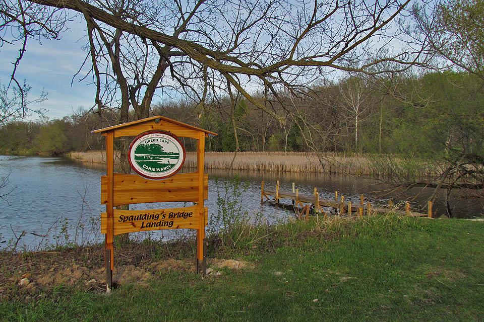 Spaulding's Bridge landing 4-4-12 sign & dock