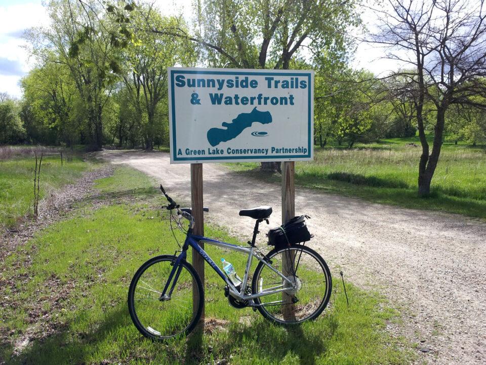 Sunnyside - bike near sign 5-22-14