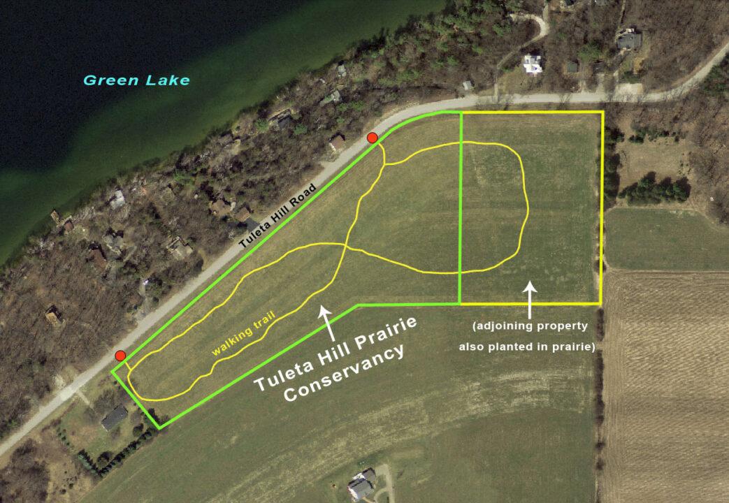 Tuleta Hill Prairie map 2014
