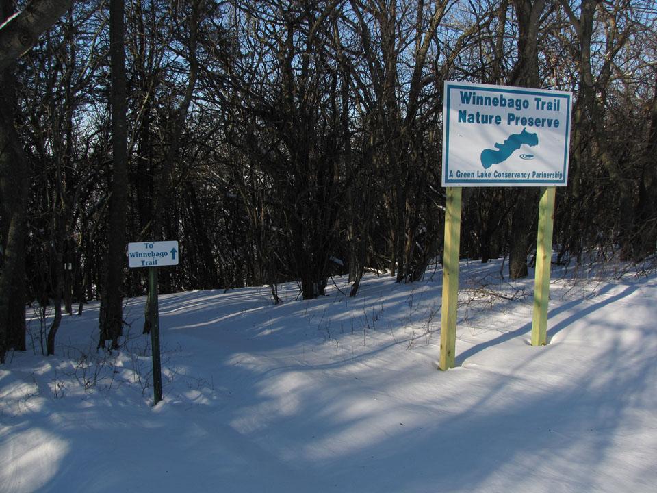 Winnebago Trail 2-4-11 west trailhead