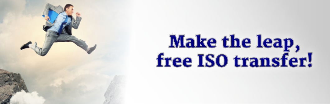 Make the leap, free ISO transfer