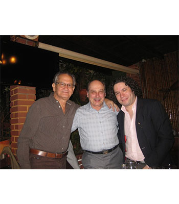 With Prof. Del Castillo & Dudamel