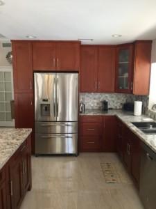 All Wood Kitchen Cabinet Installation - Refrigerator View - Universal Cabinets <script srcset=