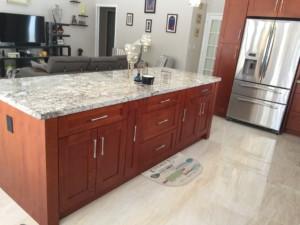 All Wood Kitchen Cabinet Installation - Center Isl<script srcset=