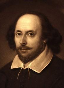 William Shakespeare, English poet and playwright. Portrait of William Shakespeare