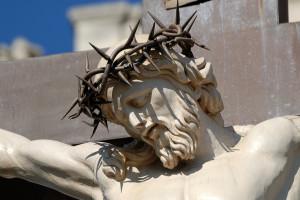 Statue of Jesus Christ at cross in Avignon, France