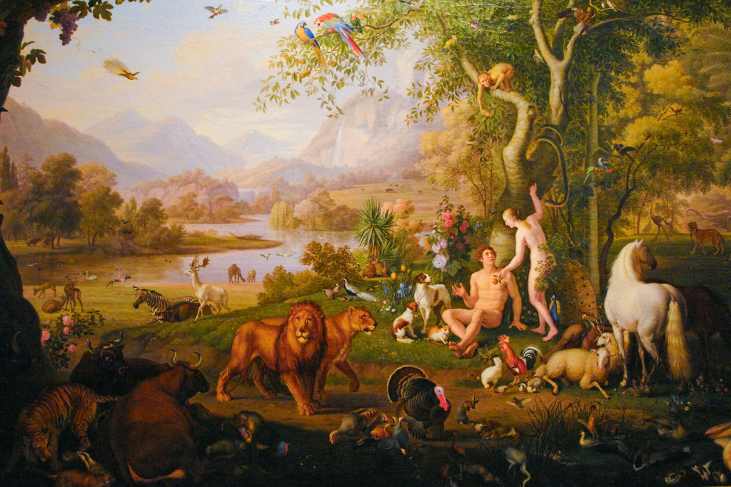 Adam and Eve by Wenzel Peter