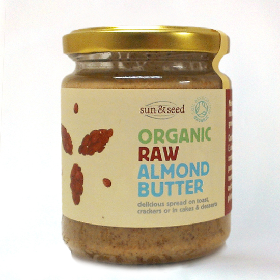 Almond seed butter, raw and organic