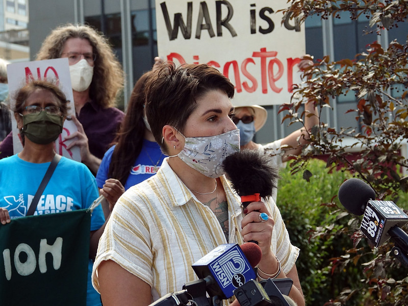 Noël Ray-Ortega during the DNC, where she was a Delegate. Photo by Susan Ruggles.