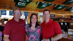 """Patrick, Lisa, and Ryan at the """"Business After 5"""" host by Champions Riverside Resort Bar & Grille"""
