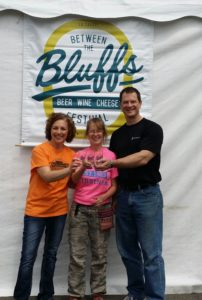 """Pictures from volunteering at the """"Between the Bluffs Beer, Wine, & Cheese Festival"""","""