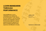 Learn Mandarin Through Performance
