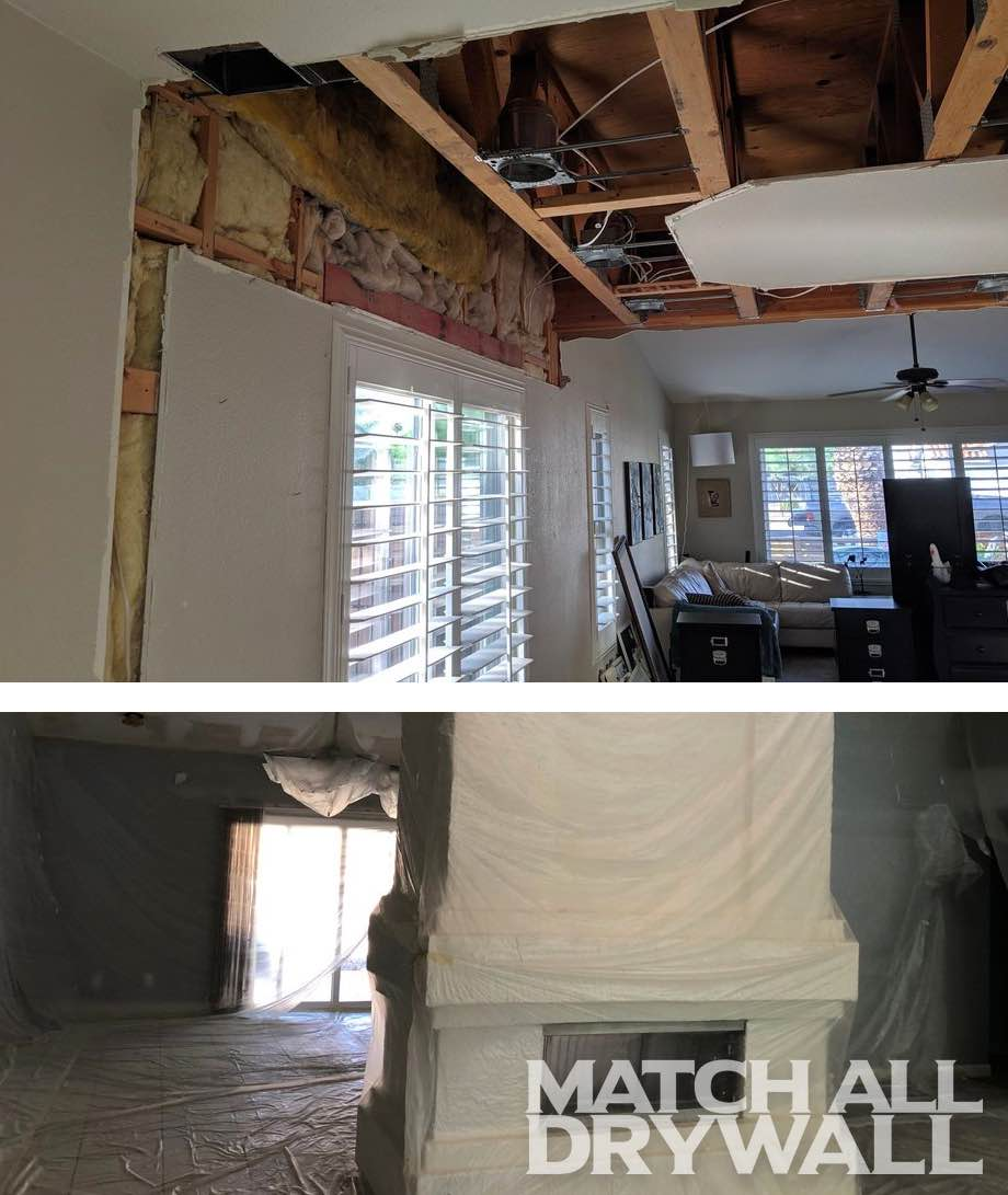 Fireplace Drywall