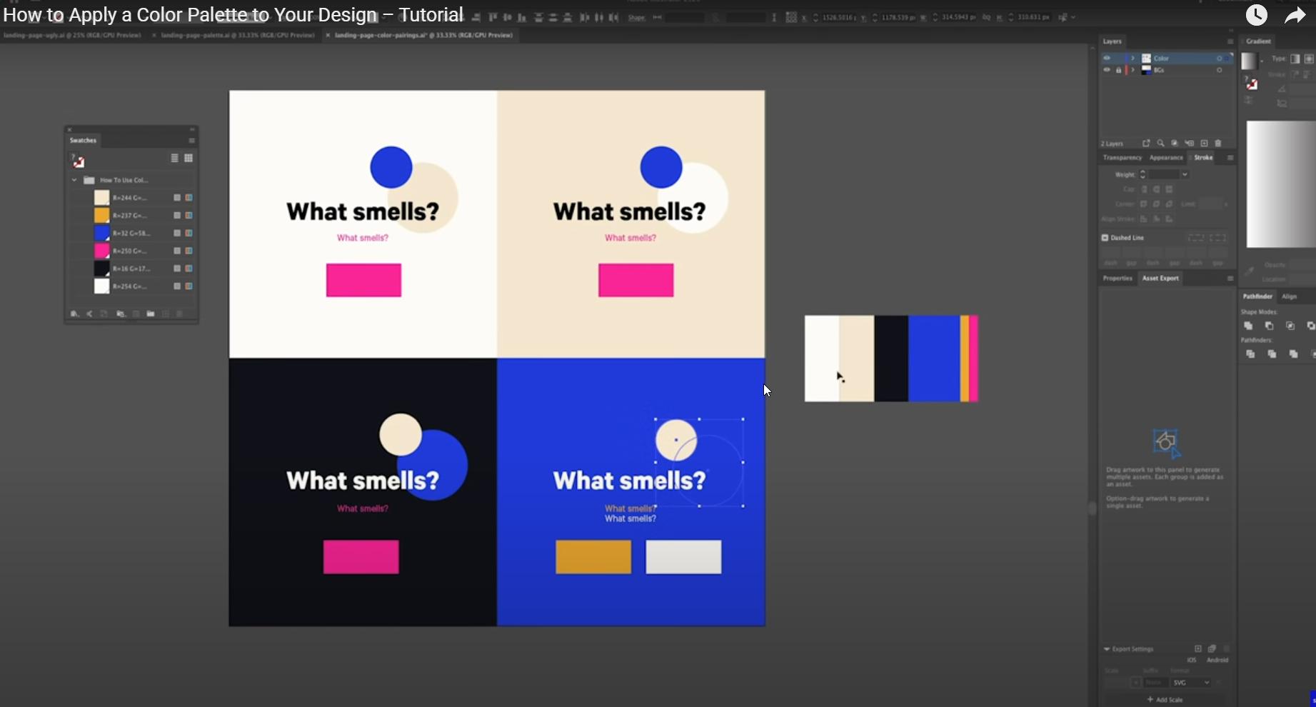 Como Aplicar una Paleta de Colores a tu Diseño