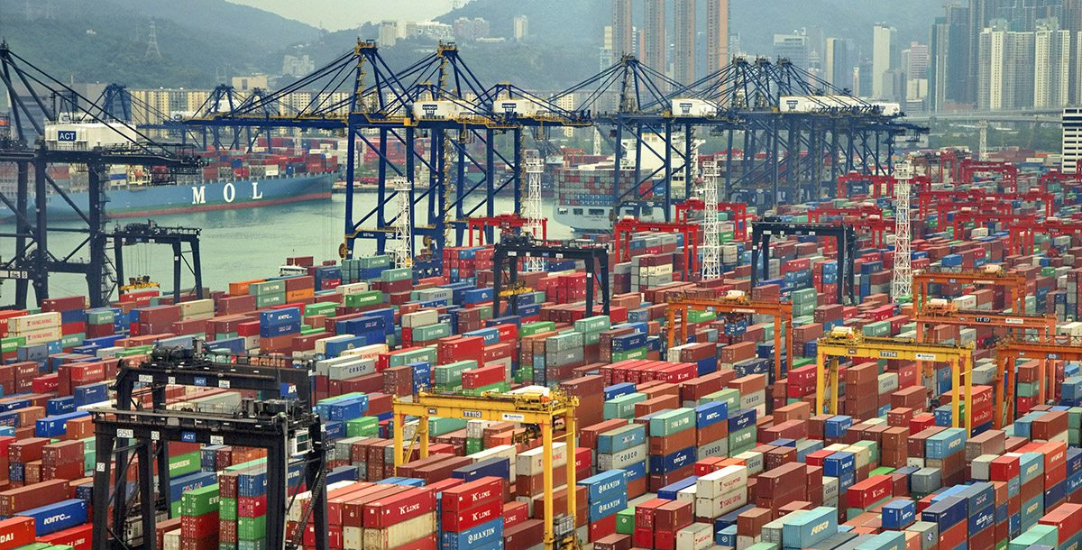 Hong Kong Slipping in World Container Shipping Traffic (and the Top Ten Ports)