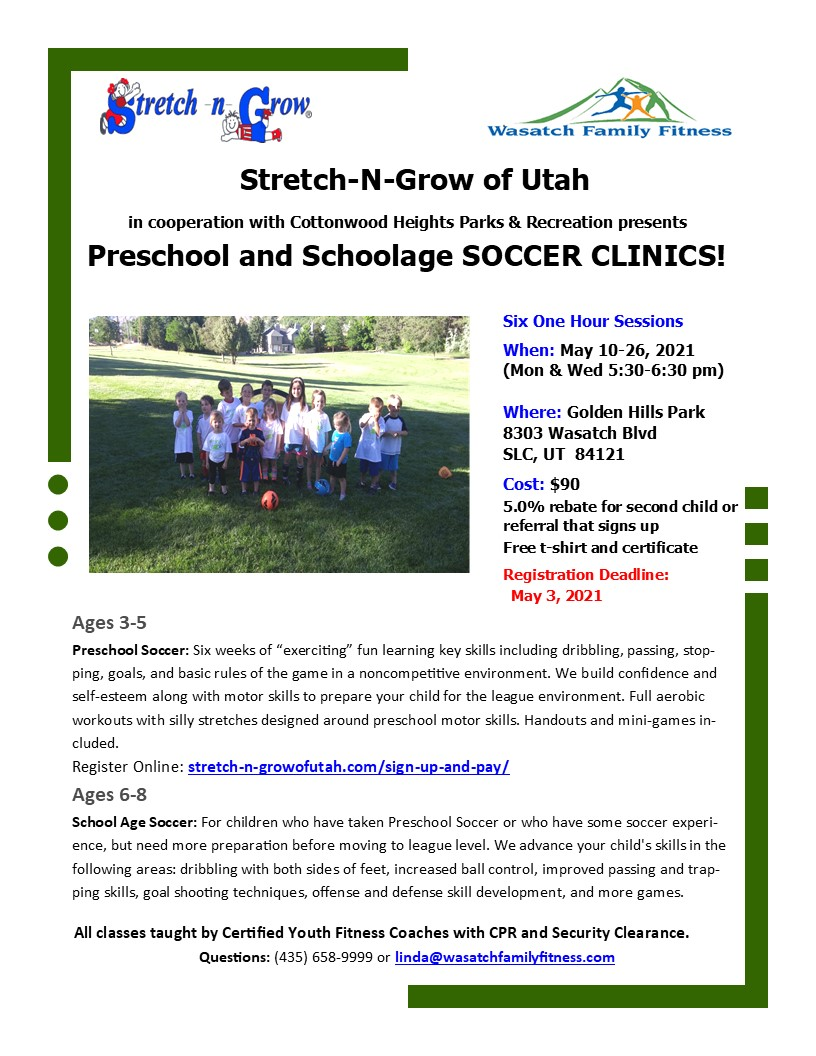 Cottonwood Heights soccer spring 2021
