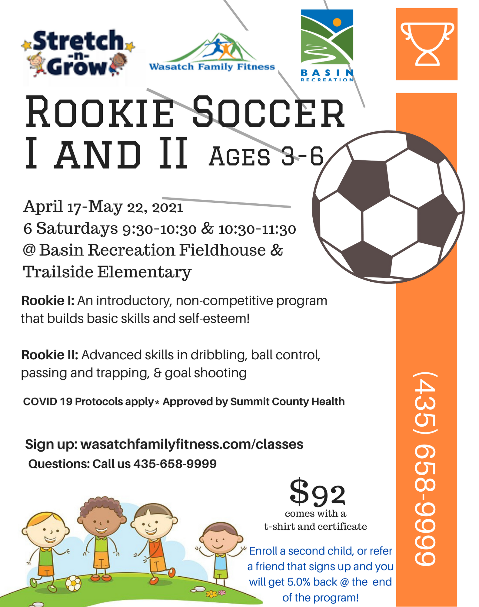 rookie soccer 1 and 2 flyer