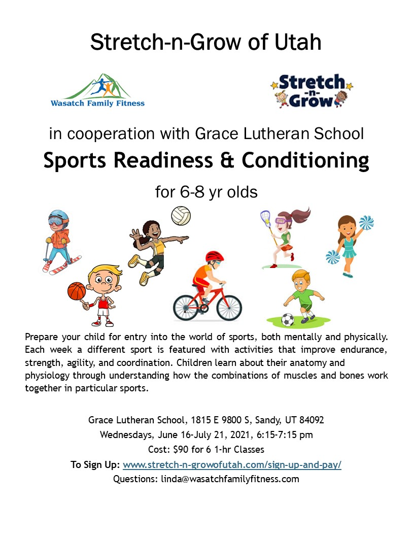 sports readiness class at grace lutheran