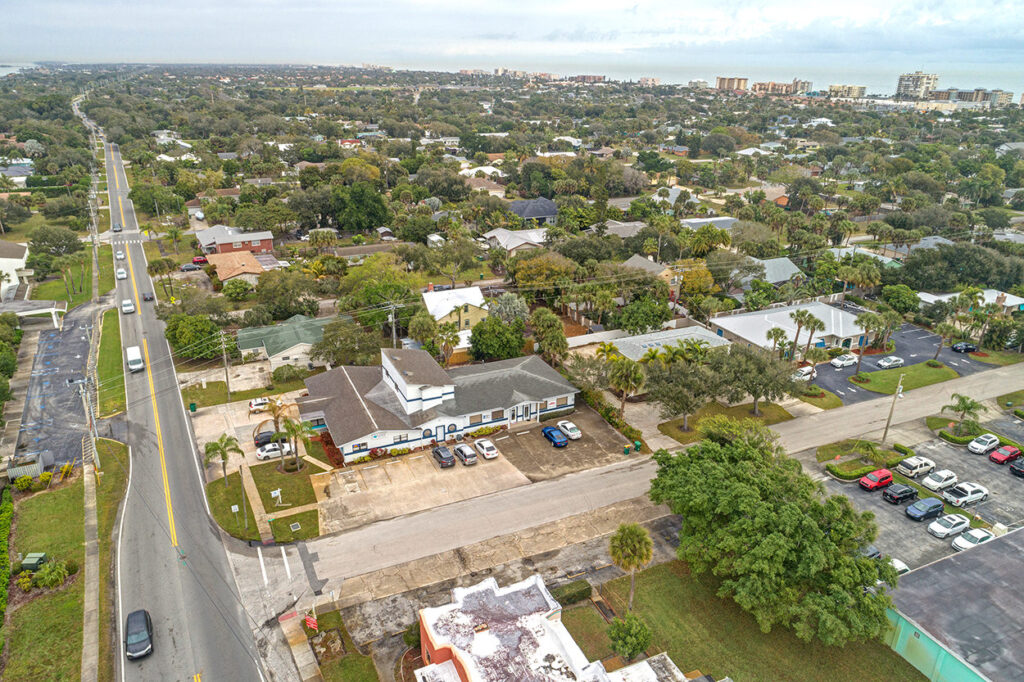 Waterman Real Estate Office Aerial View. Credit: Biz360tours