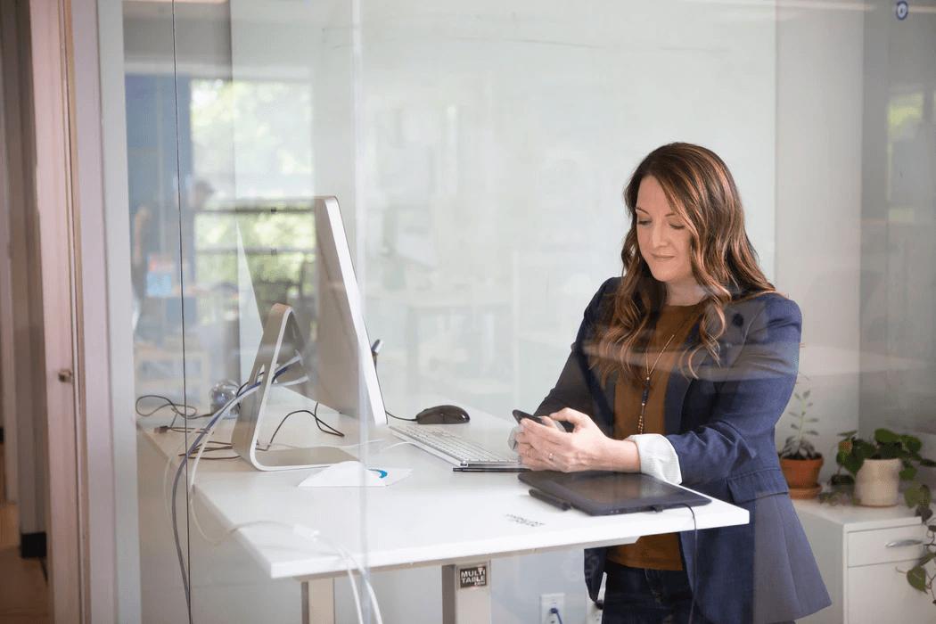 Content Creator working on her desk
