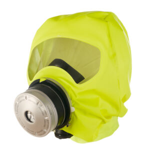 Draeger Parat escape hood is designed to protect the user from toxic gases for up to 15 minutes while escaping.
