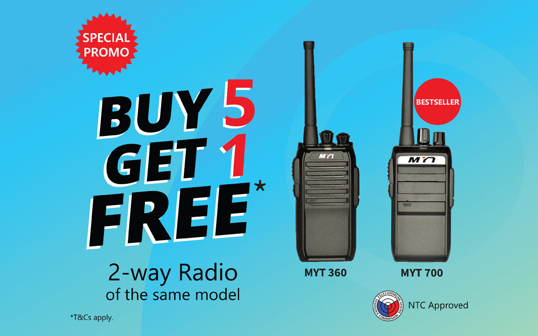 MYT Walkie Talkie Buy 5, Get 1 Free Promo