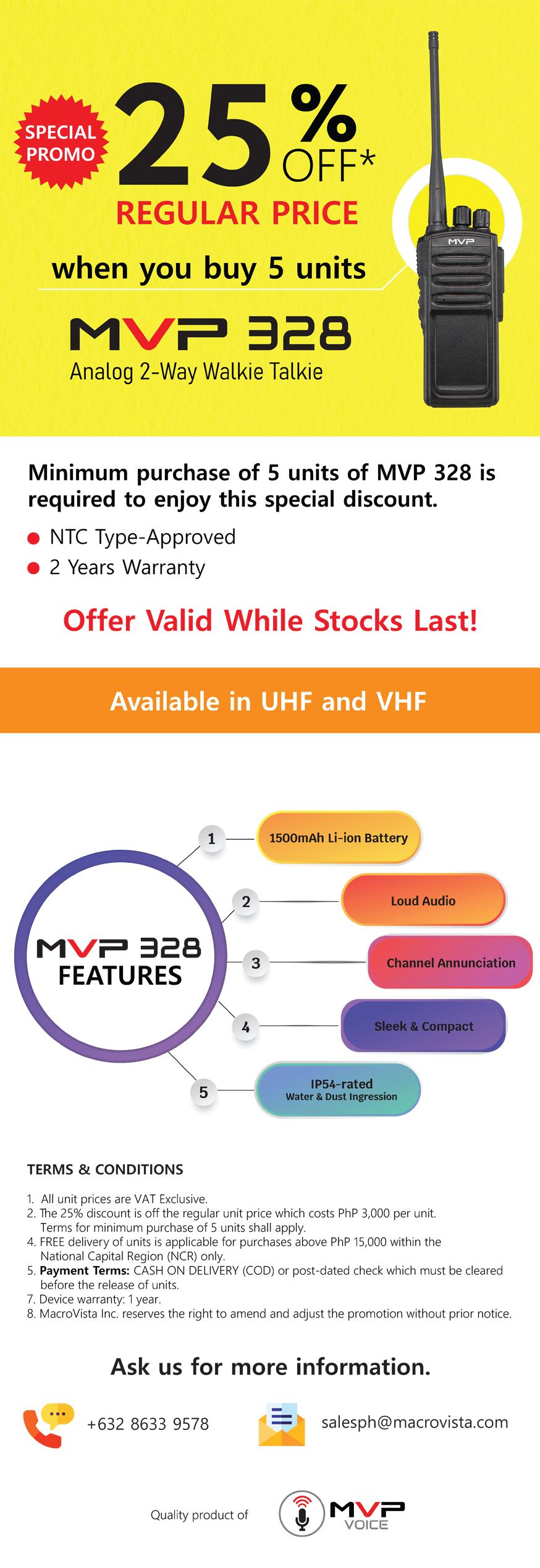 Buy MVP 328 at 25% off