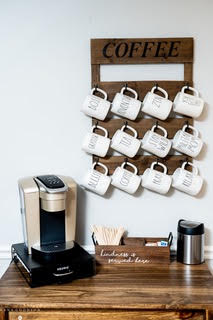 coffee station at bella lei