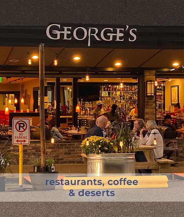 image of kirkland restaurant serving coffee and deserts to restaurant visitors