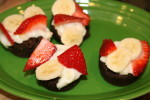 Gluten Free Brownie and Fruit Bites