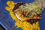 Spicy Mahi Mahi with Rice and Beans