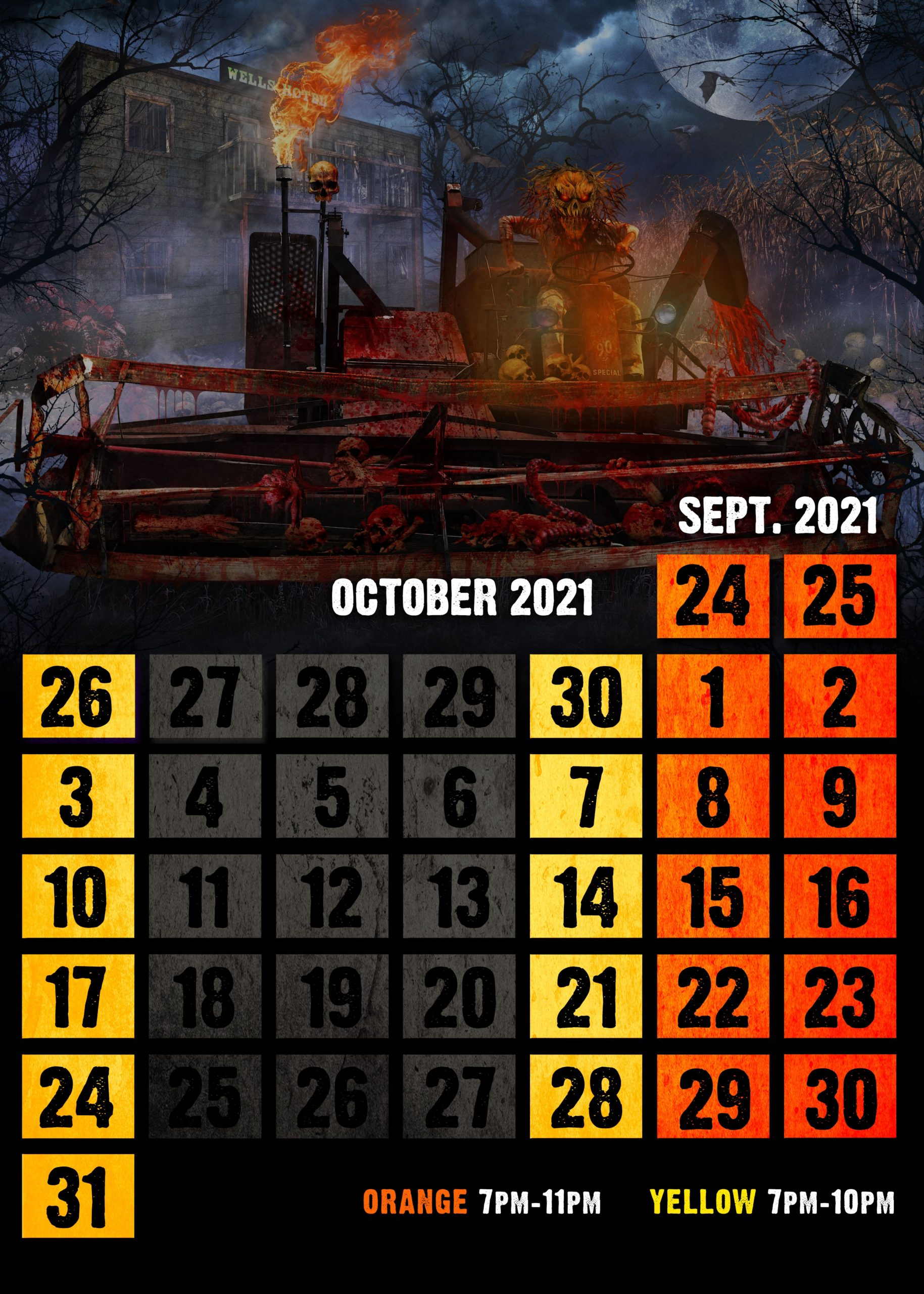 2021 terror calendar