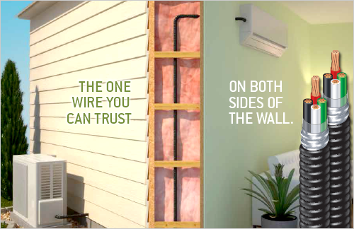 Southwire EZ-In™Mini-Split Cable Solves Ductless AC Through-the-Wall Wiring Dilemma