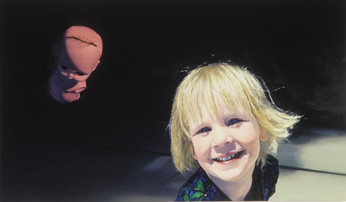 """Smile Child"""", 1991, oil on linen, 36 inches by 60 inches."""
