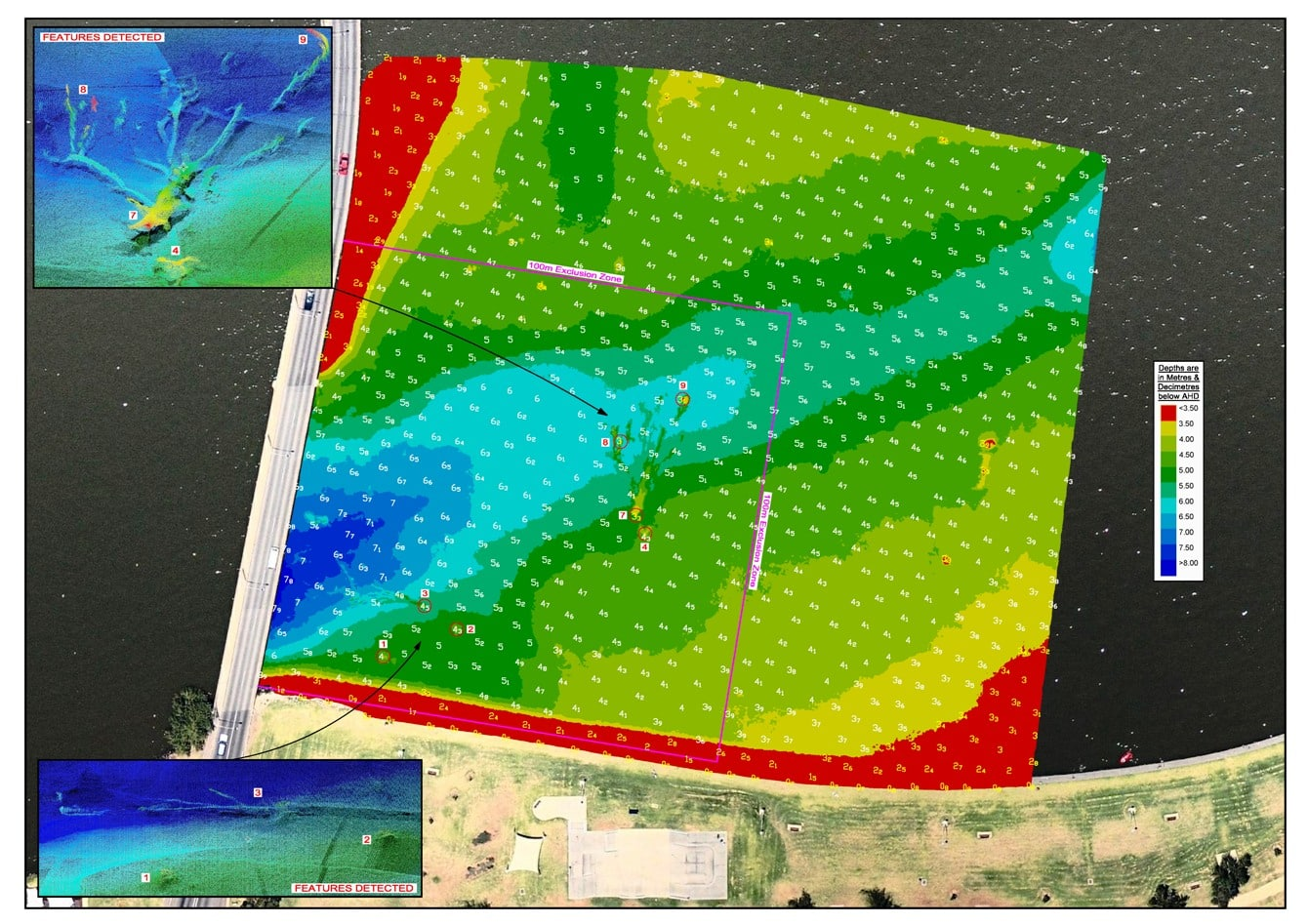 High Res images from the survey conducted on Lake