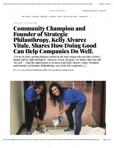 Community Champion and Founder of Strategic Philanthropy, Kelly Alvarez Vitale, Shares How Doing Good Can Help Companies Do Well. copy