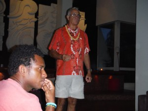 The president of the Pacific Harbour Canoe Club, Derrick